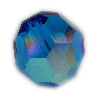 Swarovski 6mm round crystal -Capri AB