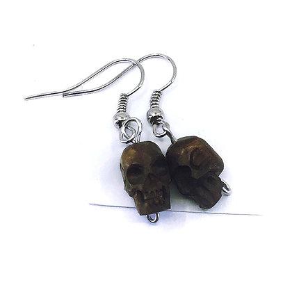 12mm skull drop earrings