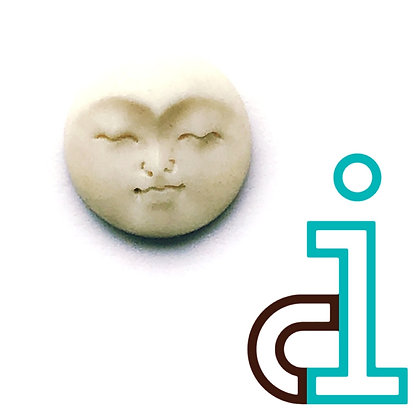 Smaller Bali Round face #20- hand carved