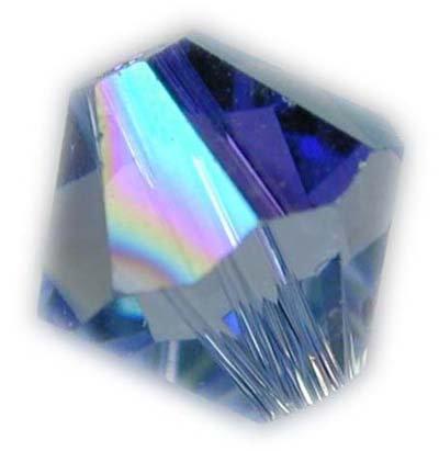 Swarovski 6mm bicone crystal -Light Sapphire AB