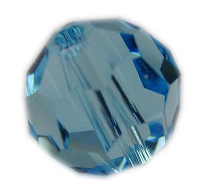 Swarovski 6mm round crystal - Aquamarine