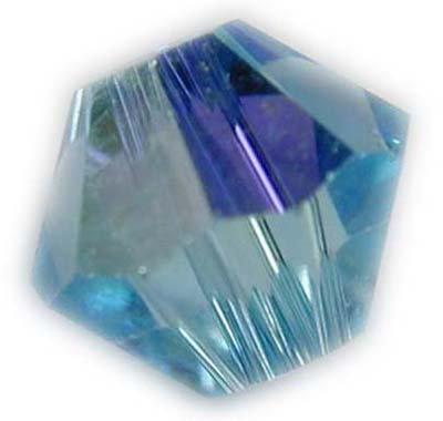 Swarovski 4mm bicone crystal -Aquamarine AB