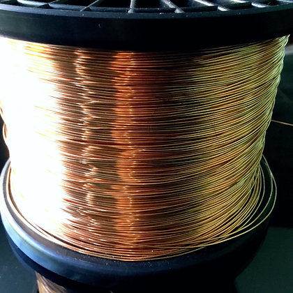 22 Gauge Raw Copper 1/2 ROUND  Wire - Soft