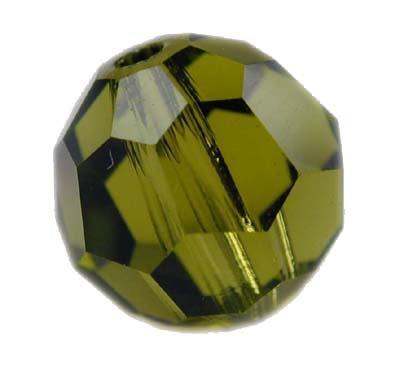 Swarovski 6mm round crystal - Olivine
