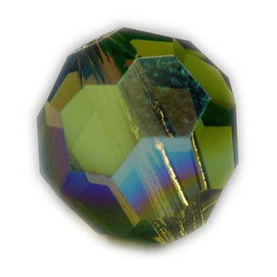 Swarovski 4mm round crystal -olivineAB