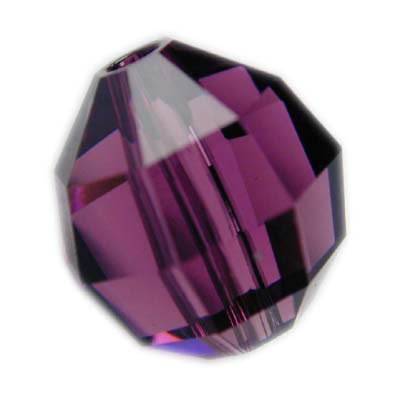Swarovski 6mm round crystal - amethyst
