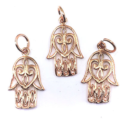 Solid copper hand  pendant