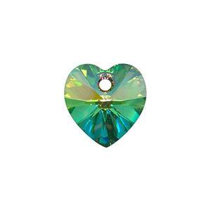 Swarovski 11mm top drilled heart pendant
