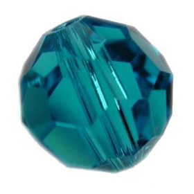 Swarovski 6mm round crystal - Blue Zircon