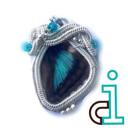 Butterfly wing pendant/necklace - left facing