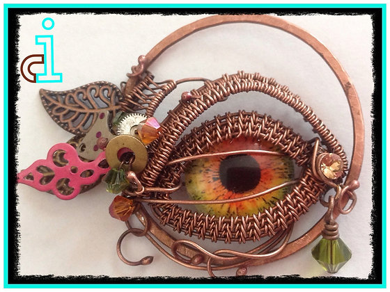 Small Steampunk Eye Pendant