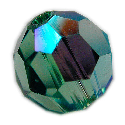 Swarovski 6mm round crystal - Erinite AB