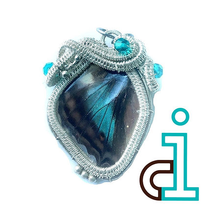 Butterfly wing pendant/necklace - right facing