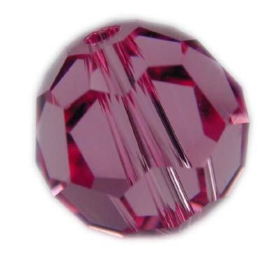 Swarovski 6mm round crystal -Rose