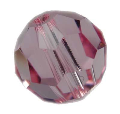 Swarovski 6mm crystal round bead - Light Rose