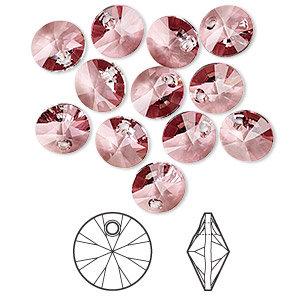 Swarovski® crystals, 6mm Round pendant - 4 options