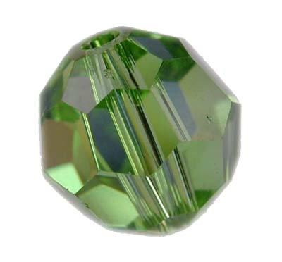 Swarovski 4mm round crystal -Peridot AB