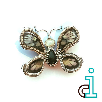 Flitter Butterfly Pin/Necklace