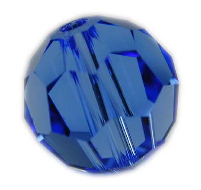 Swarovski 6mm round crystal -Sapphire