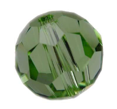 Swarovski 6mm round crystal - peridot