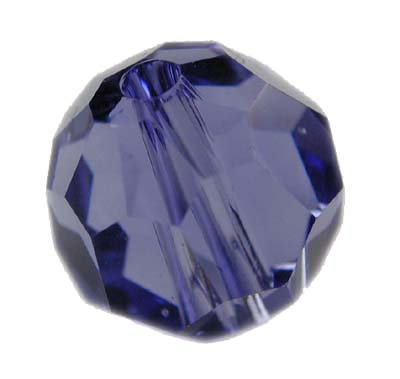 Swarovski 4mm round crystal -tanzanite