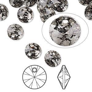 Swarovski® crystals, 8mm Round pendant - 8 options