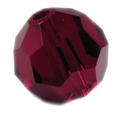 Swarovski 6mm round crystal -Garnet