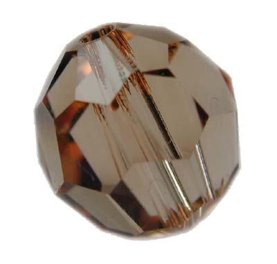 Swarovski 6mm round crystal -L.C. Topaz