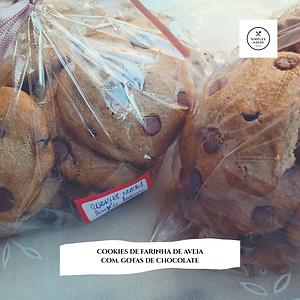Cookies de farinha de aveia
