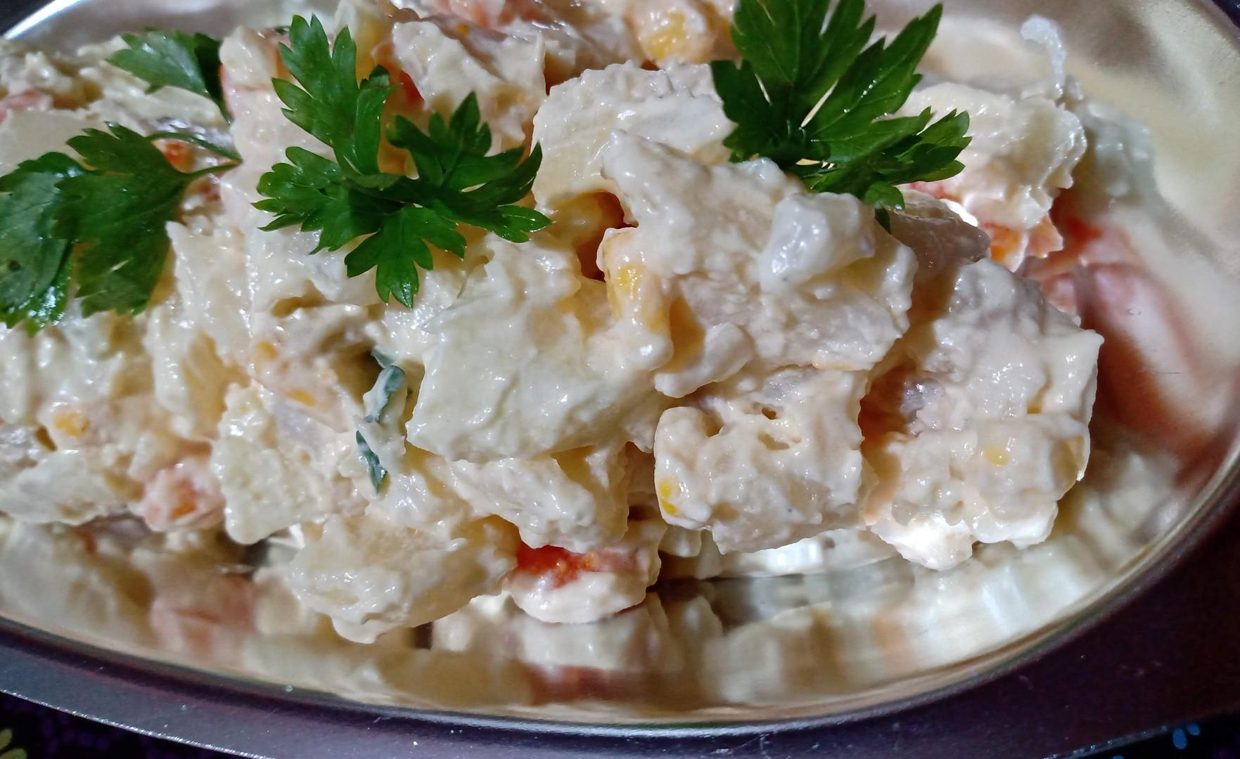 Salada de batata rústica chic