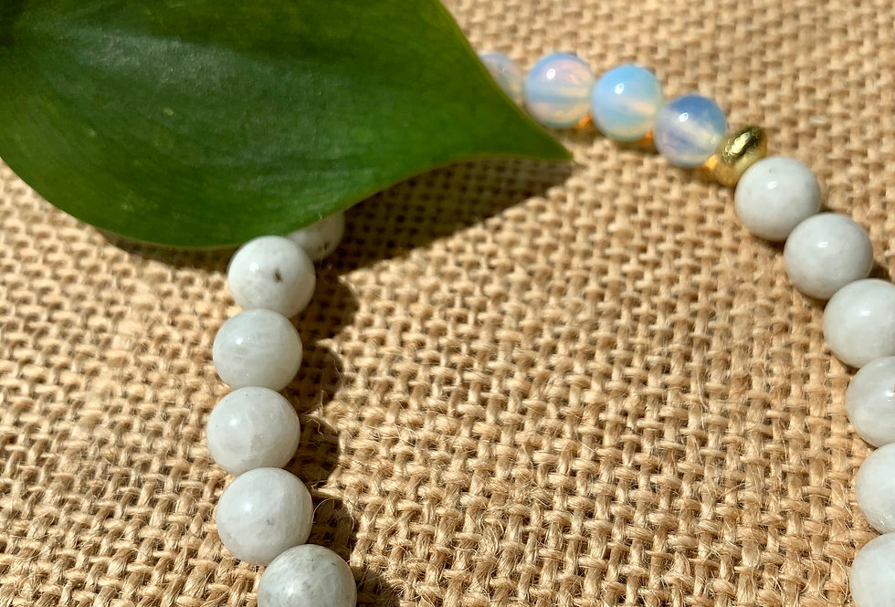 Moonstone and Opalite Bracelet