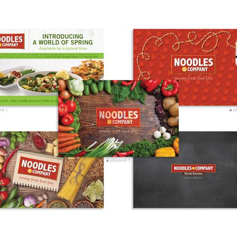 Noodles & Company Placemats