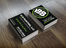 B & B Painting Business Cards