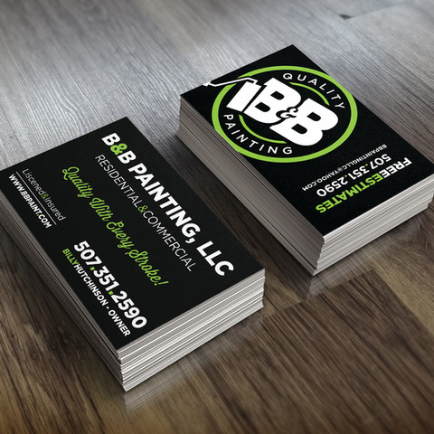 B&B Painting Business Cards