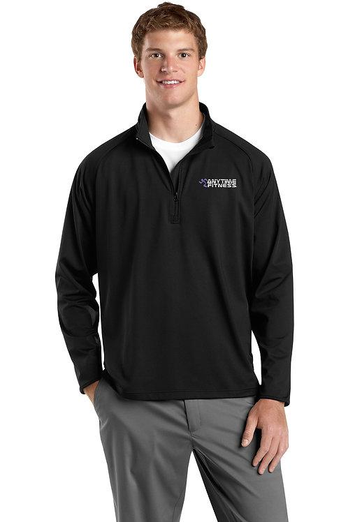 Sport-Tek® Sport-Wick® Stretch 1/2-Zip Pullover - Black
