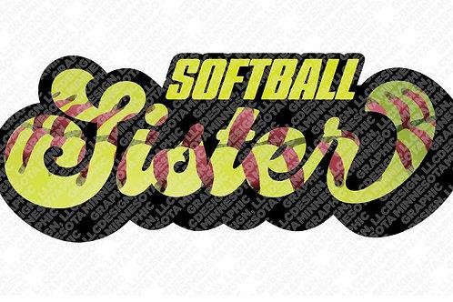 Softball Sister Graphic