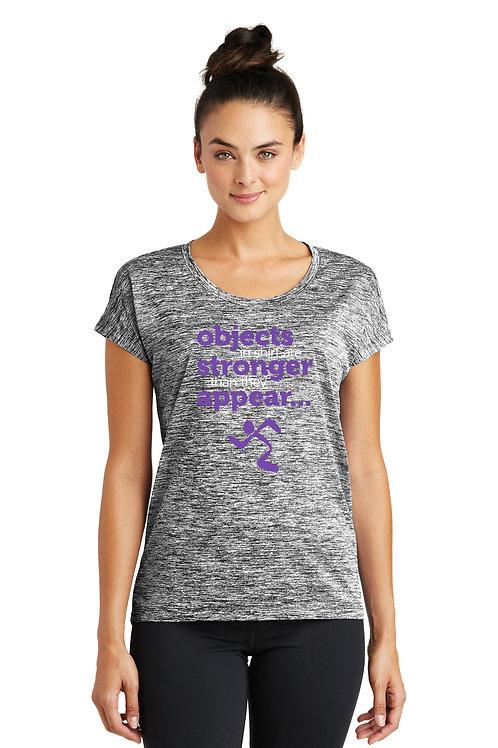 Sport-Tek® Ladies PosiCharge® Electric Heather Sporty Tee - Black Electric
