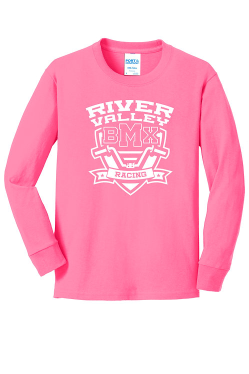 Port & Co - Long Sleeve - Pink - Youth