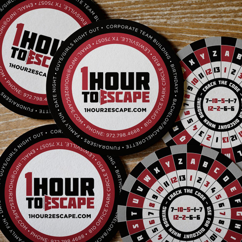 1HourToEscape Business Cards