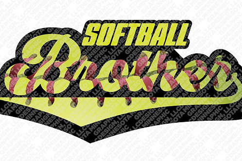 Softball Brother Graphic