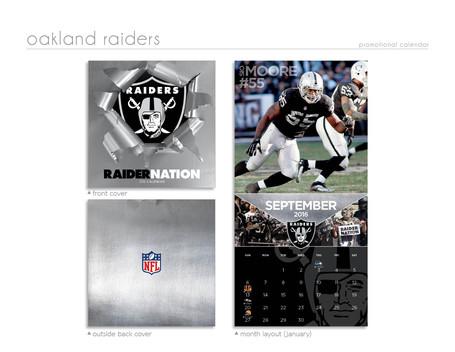 Oakland Raiders Football Calednar