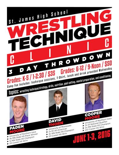 St. James Wrestling Camp Flyer