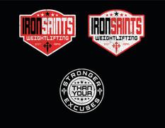 Iron Saints Weightlifting Logo