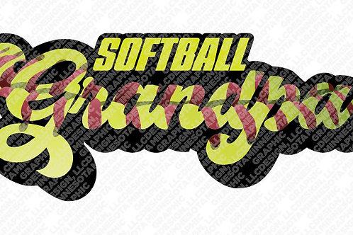 Softball Grandpa Graphic