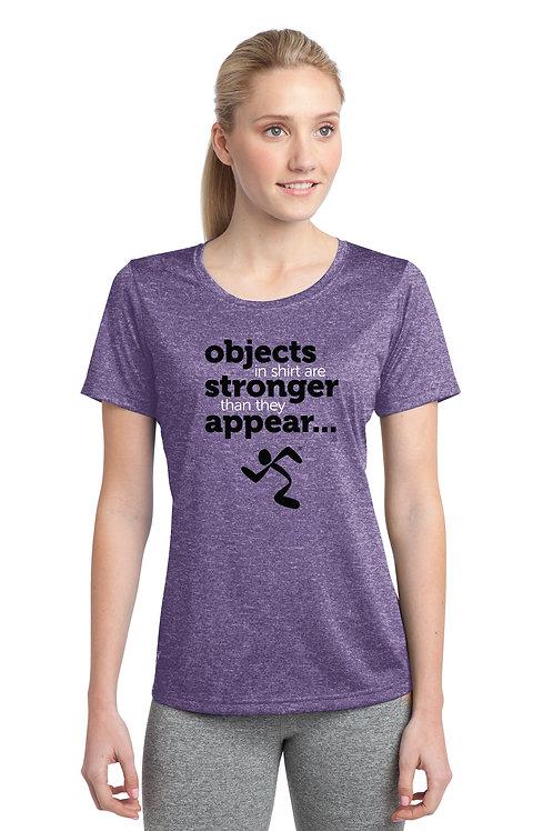 Sport-Tek® Ladies Heather Contender™ Scoop Neck Tee - Purple Heather
