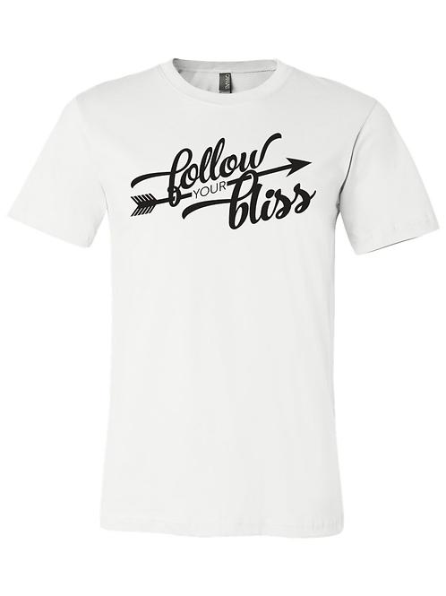 Follow Your Bliss - T-Shirt - White