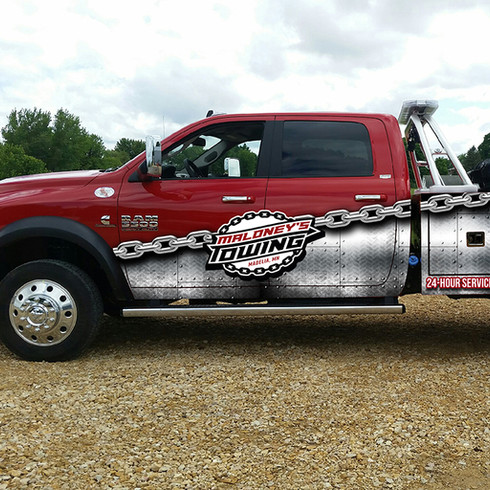 Maloney's Towing Vinyl Wrap