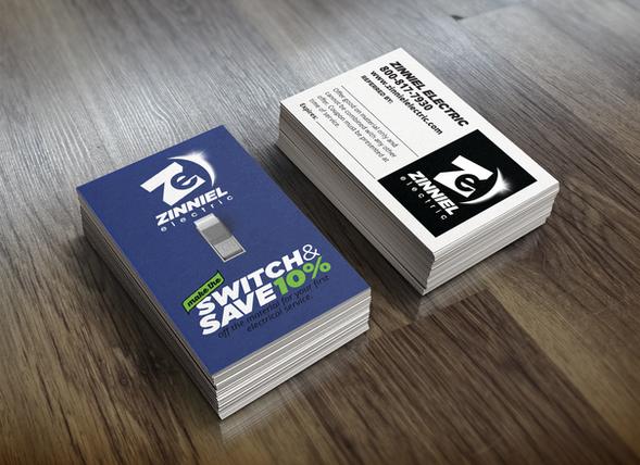 Zinniel Electric Referal Card