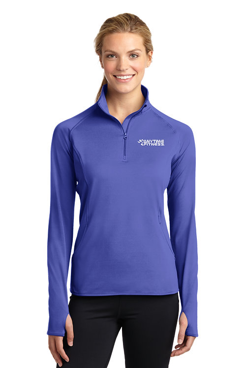 Sport-Tek® Ladies Sport-Wick® Stretch 1/2-Zip Pullover - Iris Purple