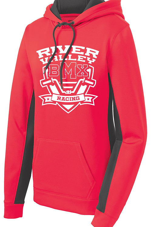 Sport Tek - Fleece Hoodie - Hot Coral - Women's